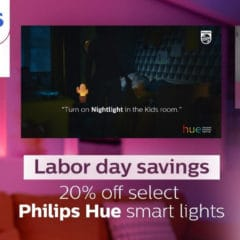 Philips Hue Smart Lighting Products Discounted 20% for Labor Day [Deal]