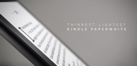 Amazon Announces New Kindle Paperwhite That is Waterproof, Thinner, and Lighter