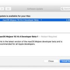 Apple Releases macOS Mojave 10.14.4 Developer Beta 1 [Download]
