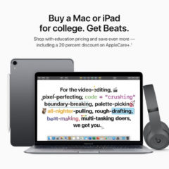 Apple Launches 2019 Back to School Promotion: Free Beats Headphones With Purchase of Mac or iPad