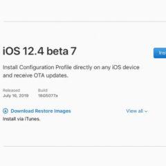 Apple Releases iOS 12.4 Beta 7 [Download]