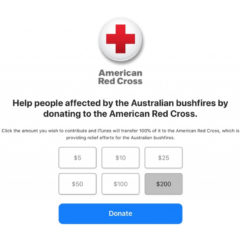 Apple is Accepting Red Cross Donations to Aid Australian Bushfire Relief