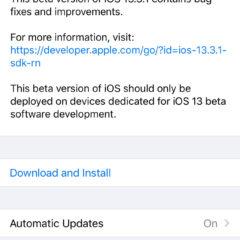 Apple Releases iOS 13.3.1 Beta 3 [Download]