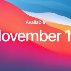 MacOS Big Sur Will Be Released on November 12