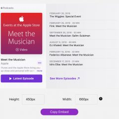 Apple Launches Embeddable Web Player for Podcasts